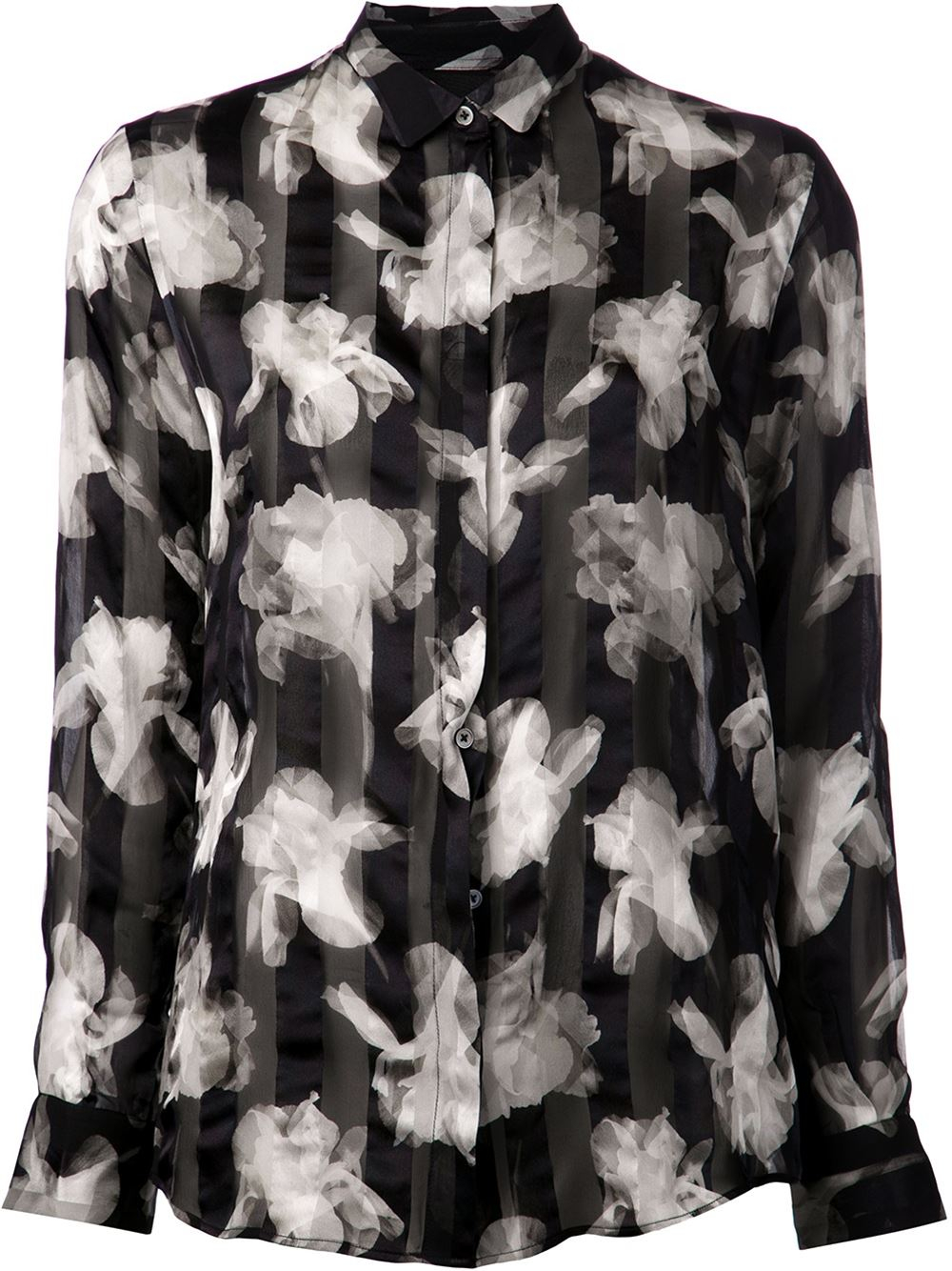 Paul smith black label Floral Blouse in Black | Lyst