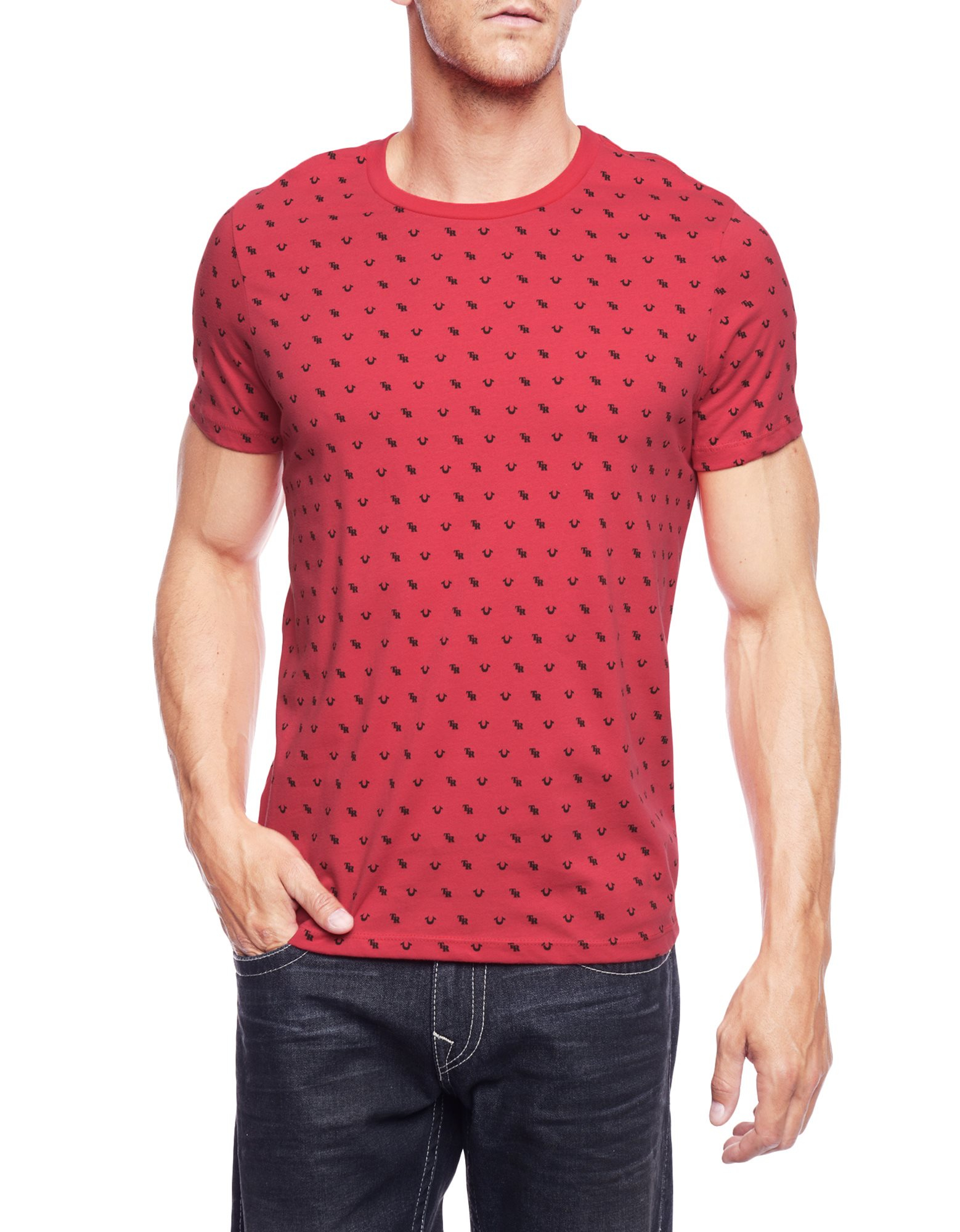 U Neck T Shirt Mens