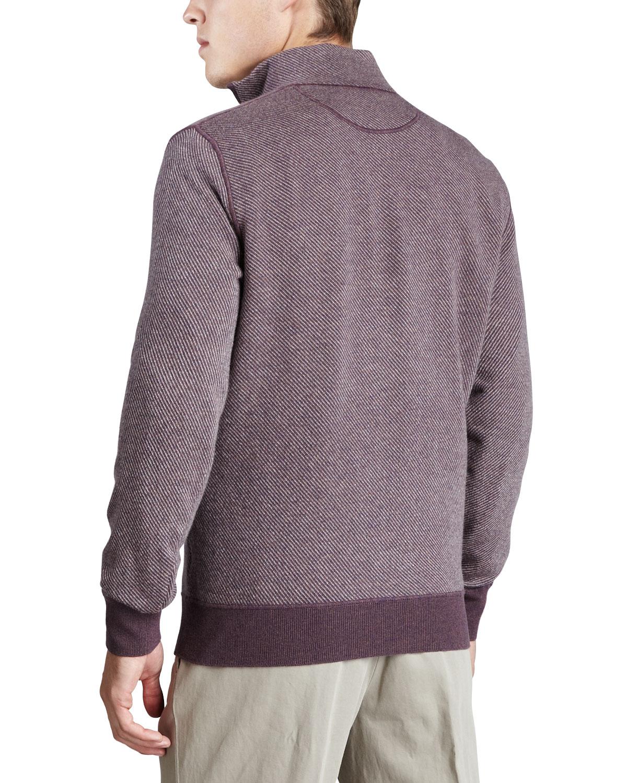 Loro piana Roadster Half-zip Cashmere Sweater in Purple for Men | Lyst