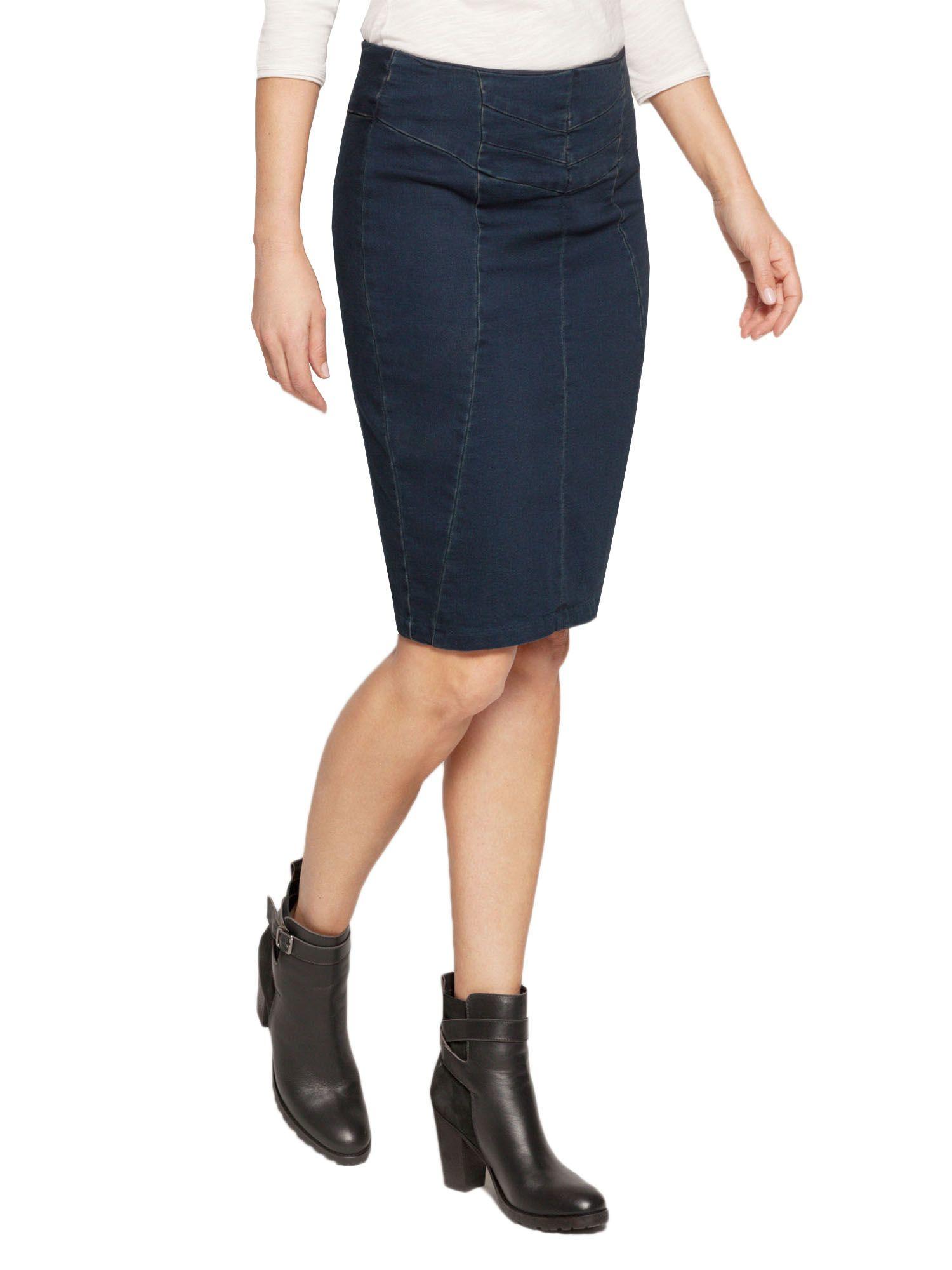 sandwich stretch denim skirt in blue lyst