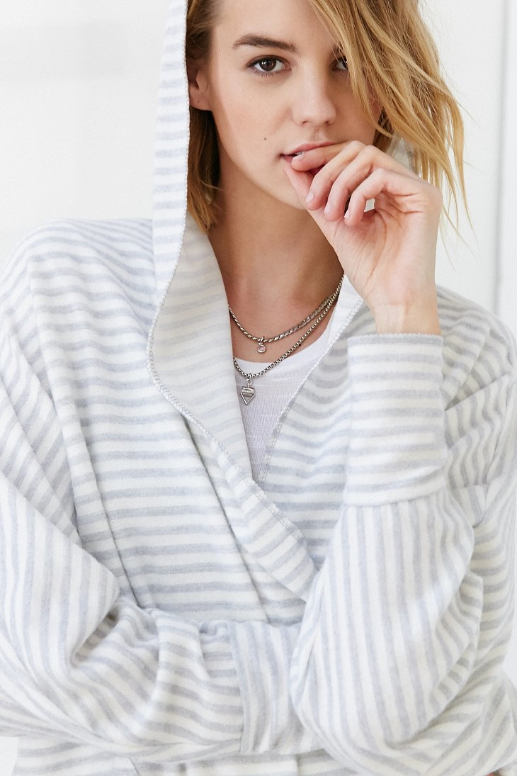 Silence   noise Seoul Cozy Hooded Cardigan in White | Lyst