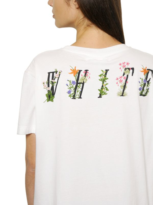 Lyst off white co virgil abloh flower embroidered cotton jersey t gallery mightylinksfo