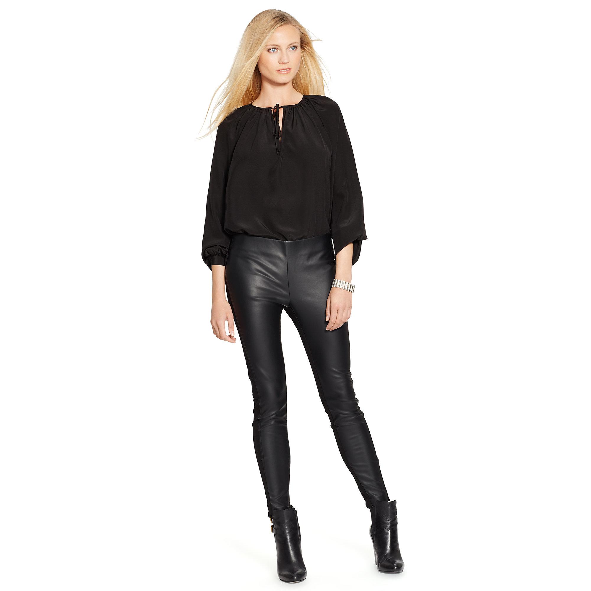 Ralph Lauren Black Silk Blouse 115