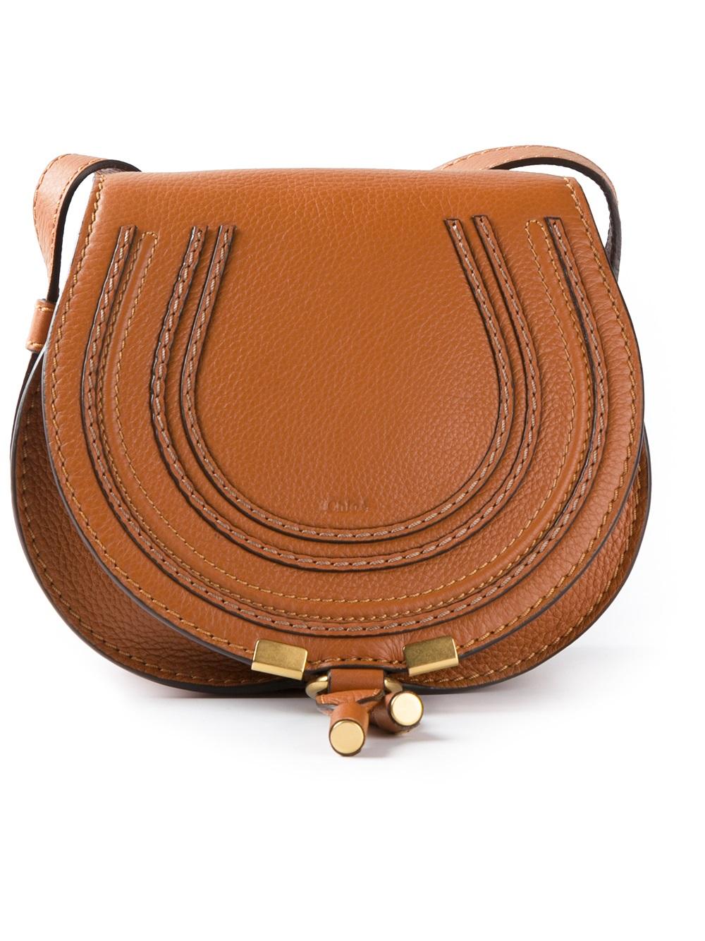 Chlo¨¦ \u0026#39;mini Marcie\u0026#39; Cross Body Bag in Brown | Lyst