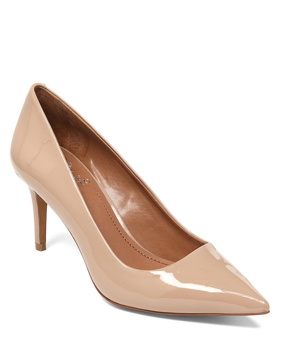Vince Camuto Cassina Patent Leather Pumps In Beige Beige