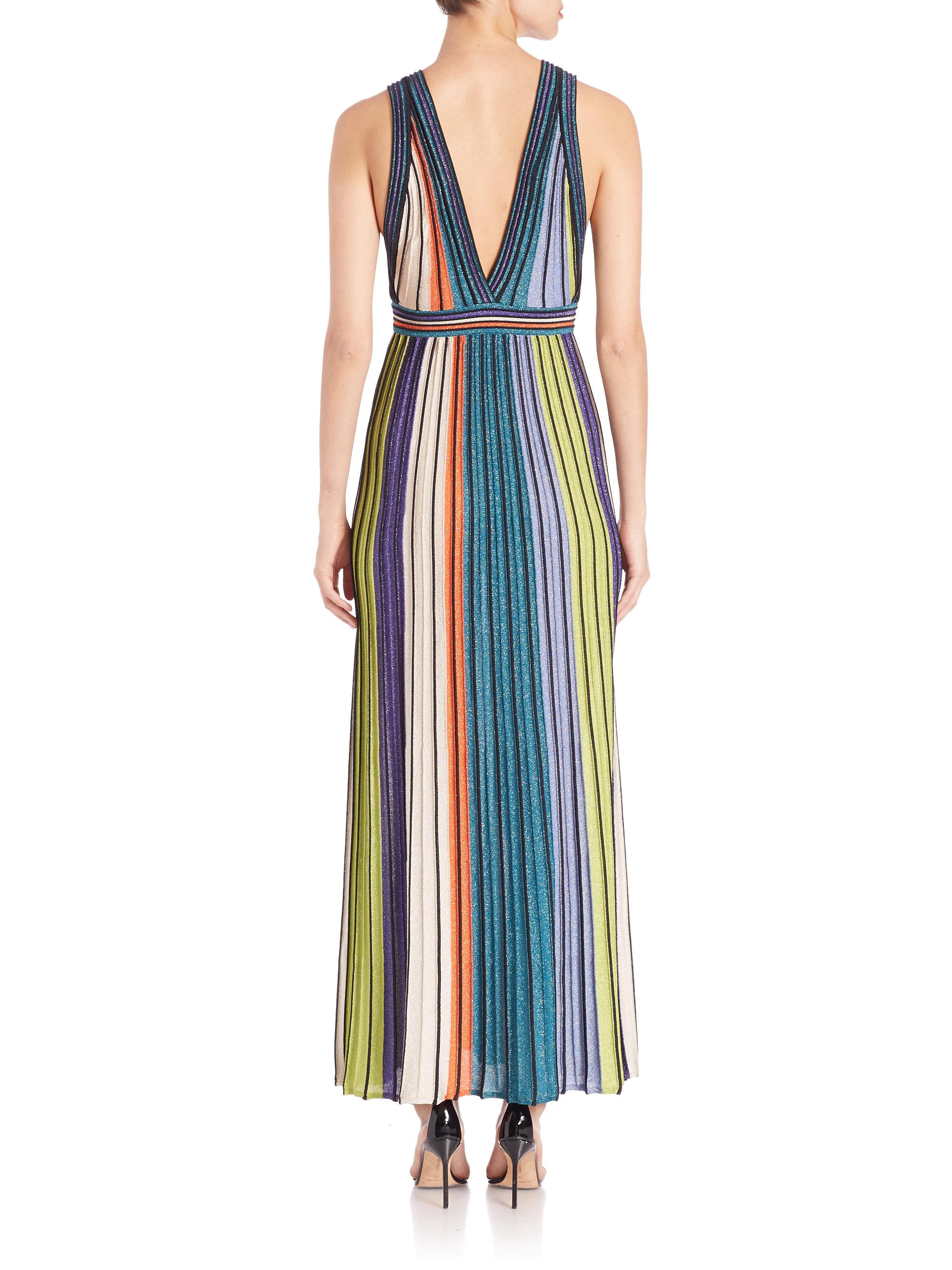 printed sleeveless maxi dress - Multicolour M Missoni TqX0wu0N