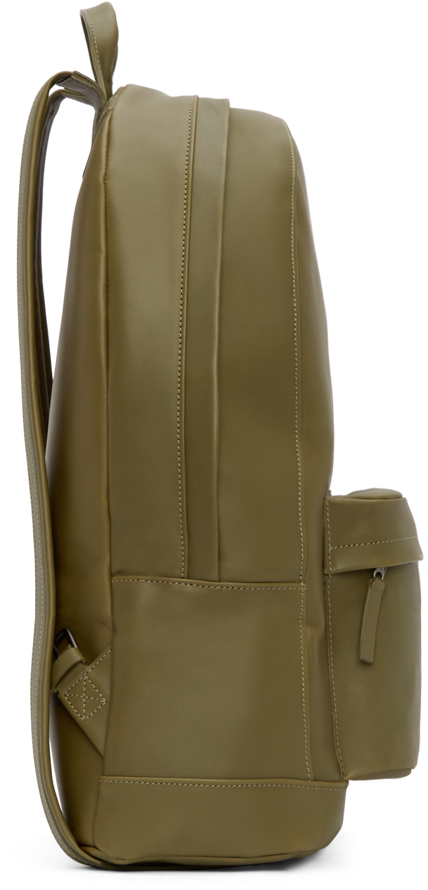 Lyst Pb 0110 Olive Leather Ca 6 Backpack In Green For Men
