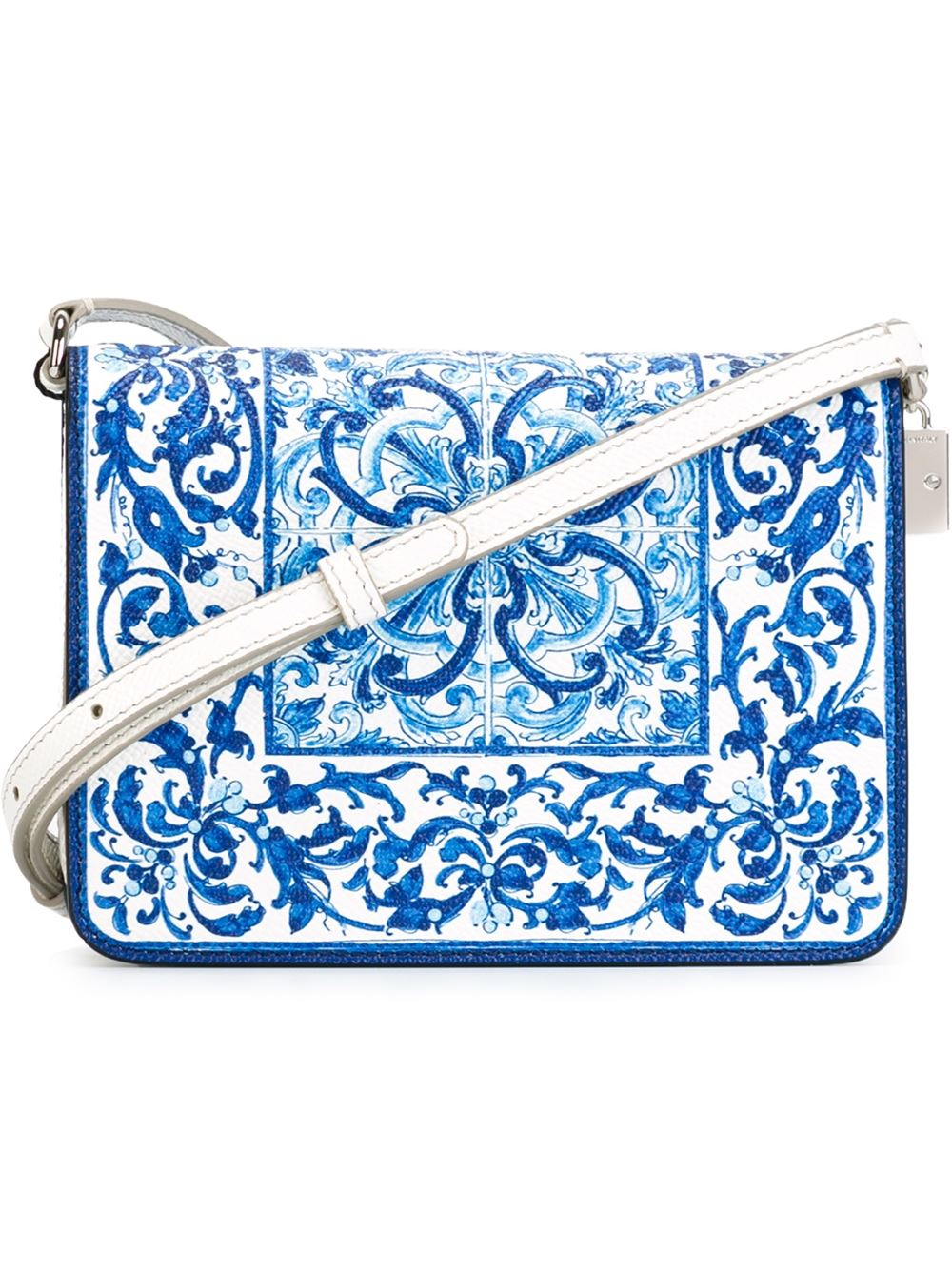 be453fd1a56f Lyst - Dolce   Gabbana  Majolica  Print Cross Body Bag in Blue