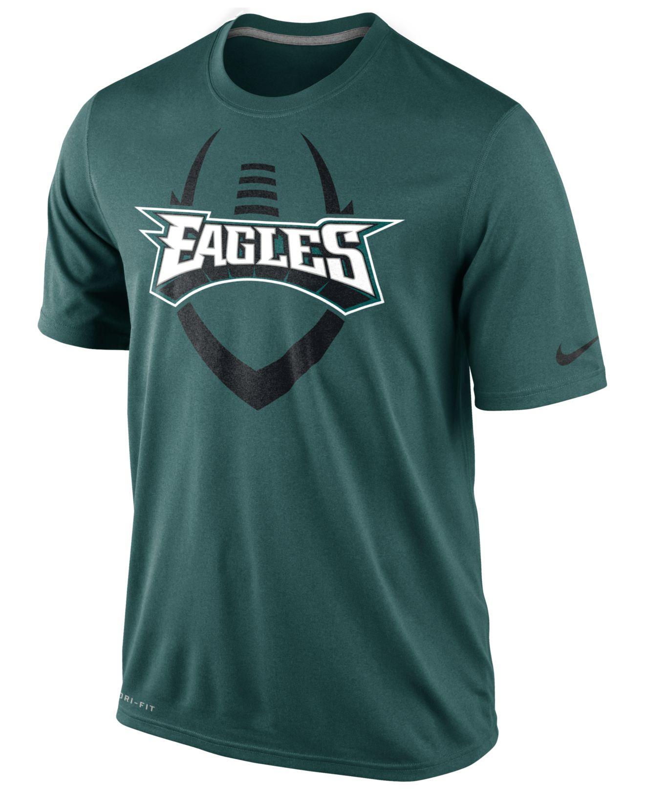 Nike Men 39 S Short Sleeve Philadelphia Eagles T Shirt In