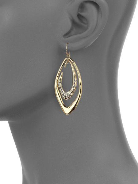 Alexis Bittar Miss Havisham Liquid Crystal Orbiting Link Drop Earrings In Gold Silver