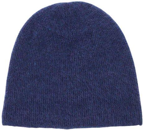 Knitting Pattern For Mohair Beanie : Neil Barrett Mohair Knit Beanie Hat in Blue for Men Lyst