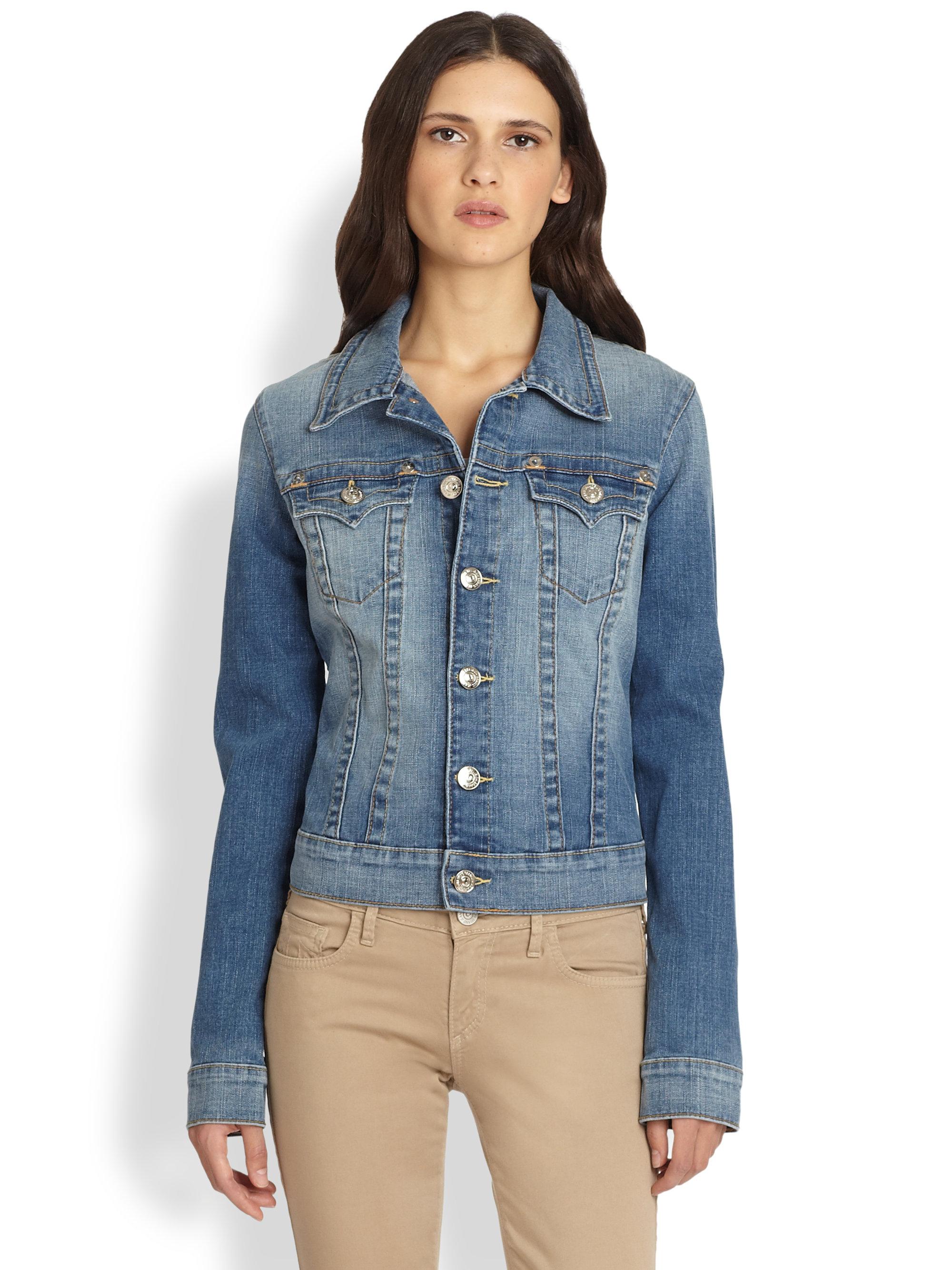 Lyst - True Religion Emily Denim Jacket in Blue - photo#8