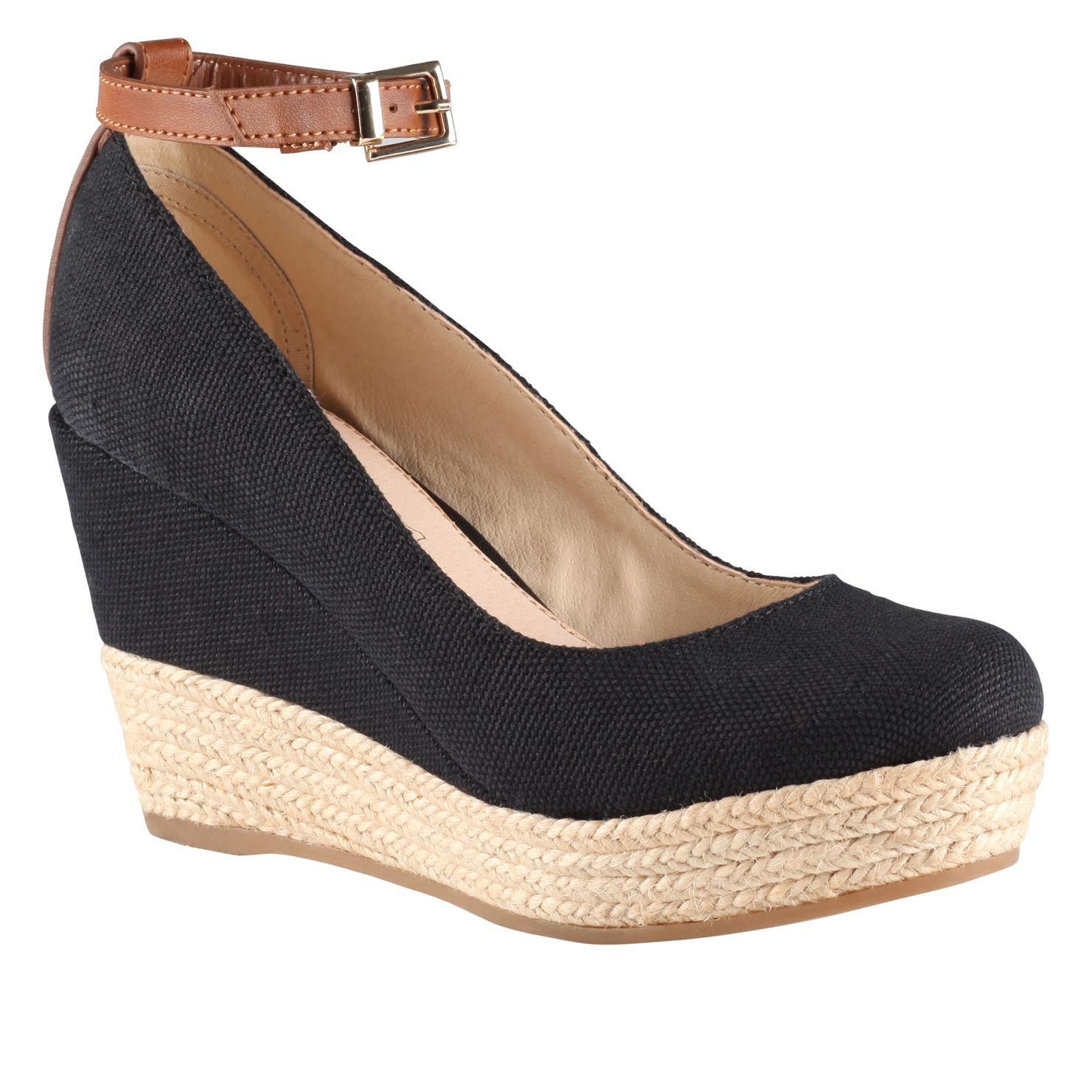 aldo grenama almond toe wedge espadrille court shoes in