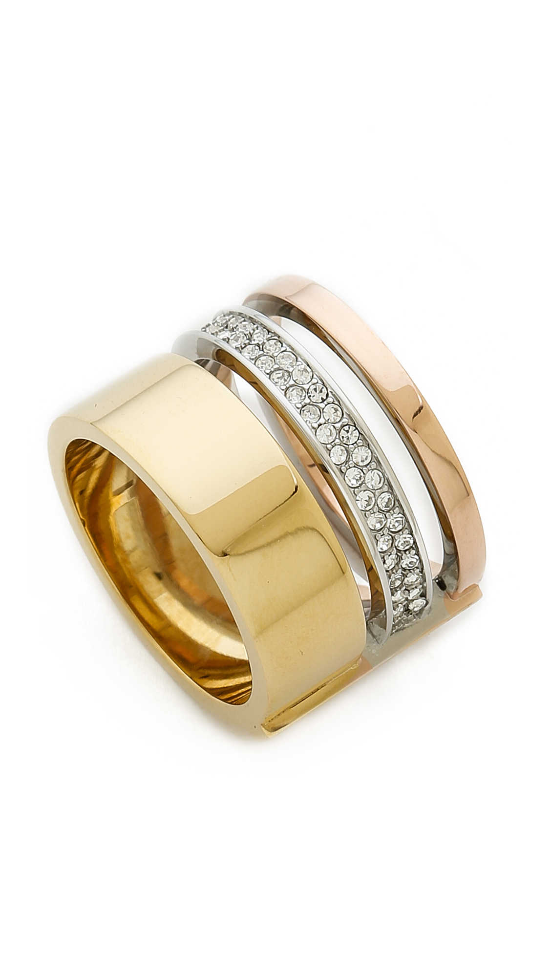 rings il tri metal zoom stacking fullxfull listing name rose gold silver