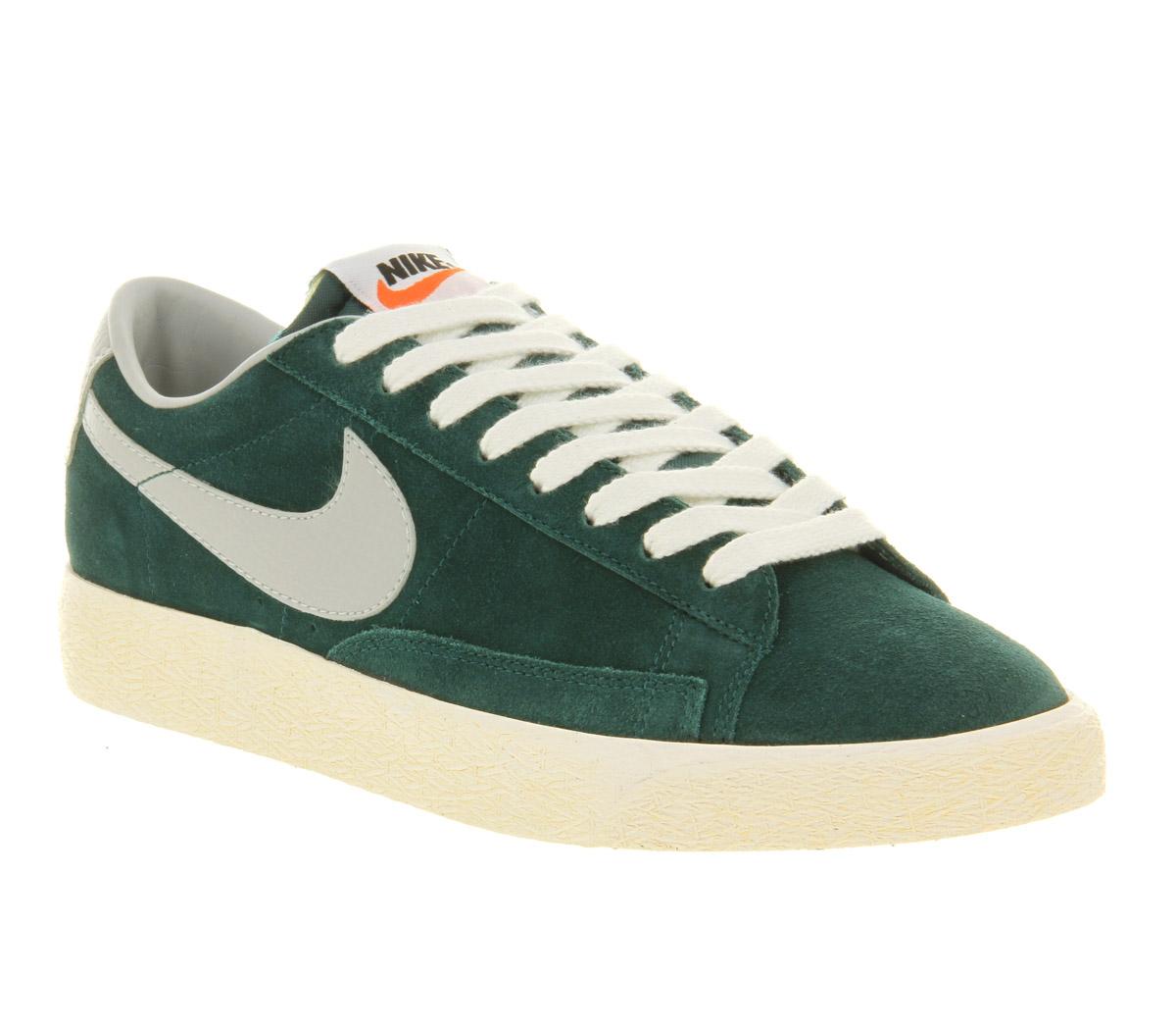 698212e0b2b czech nike blazer low vintage dark atomic strata grey in green for men lyst  91b2e 1aa47