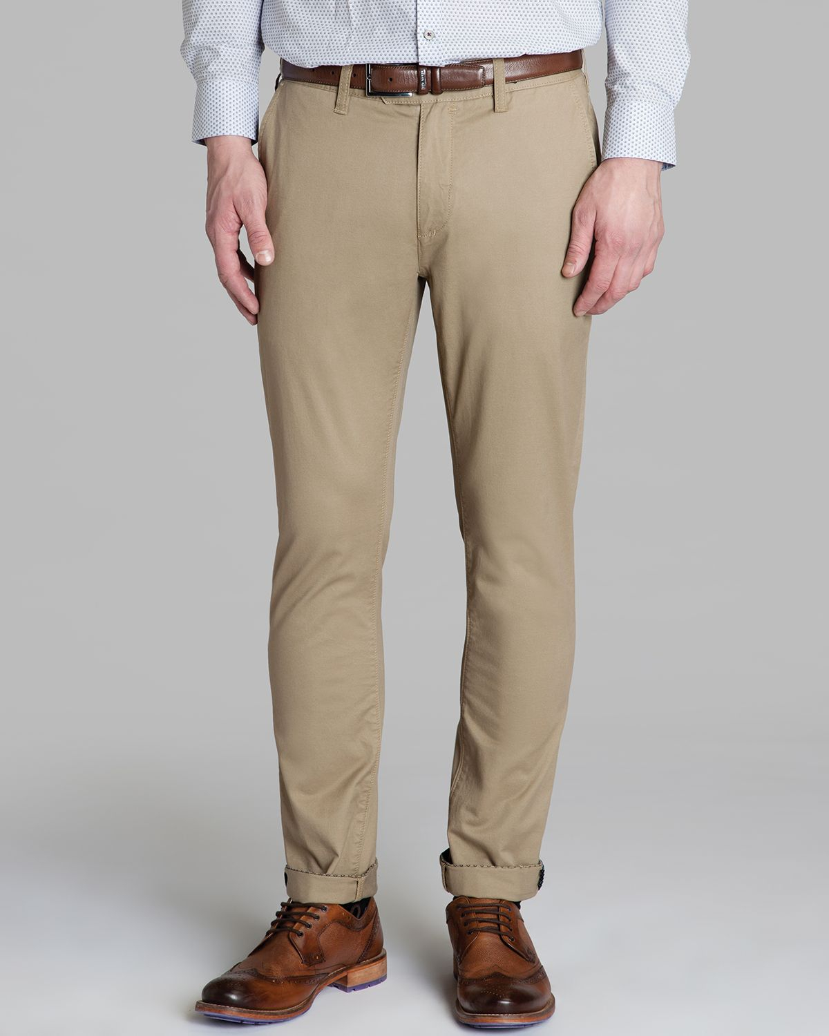Ted baker Mordord Slim Fit Chino Pants in Gray for Men | Lyst