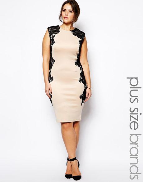 Beige Lace Dress Plus Size Plus Size Beige Body Con