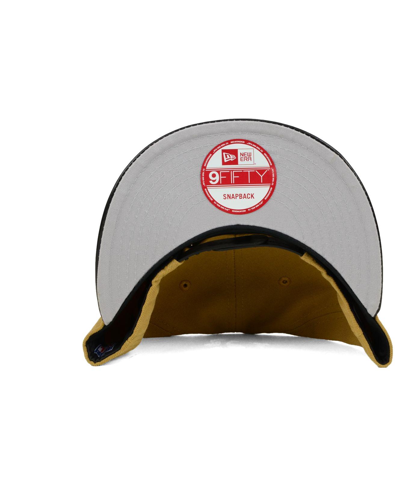 pretty nice 68ec6 43215 spain lyst ktz chicago bears faux leather wheat 9fifty snapback cap in  1ba31 3db04