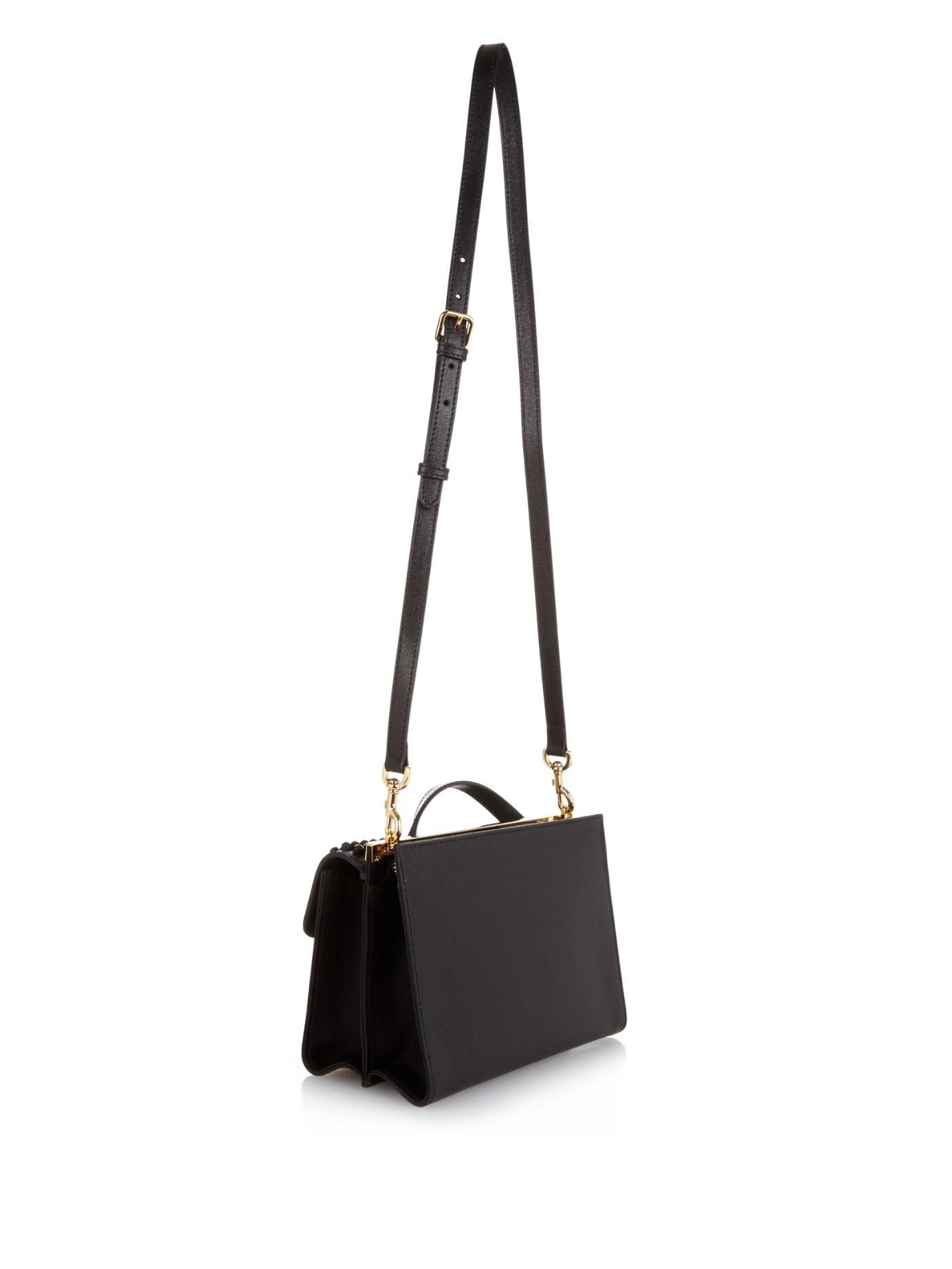 a2bd8c293da8 ... spain lyst fendi demijour small leather cross body bag in black ecf38  e523d