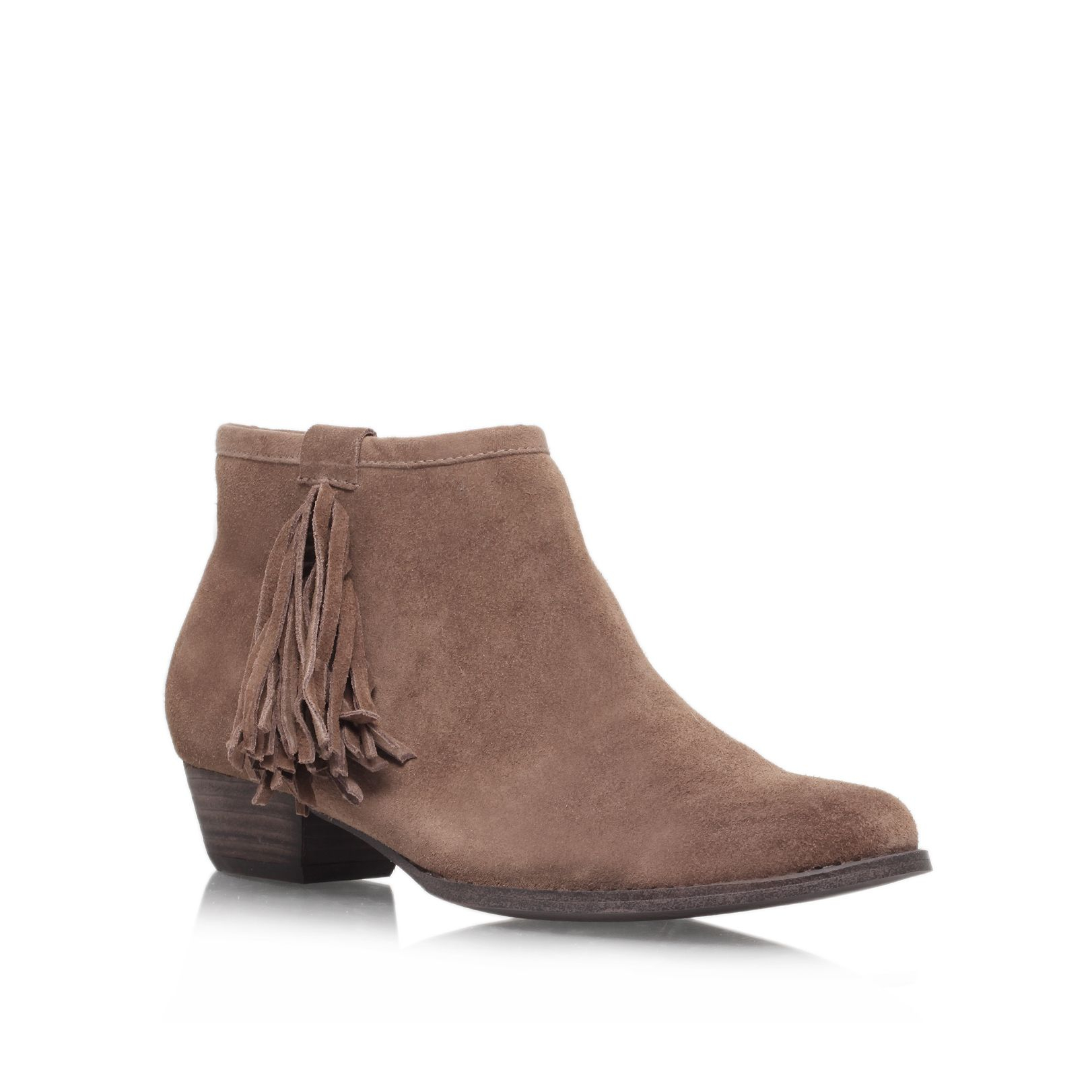 miss kg sassy ankle boots in gray taupe lyst