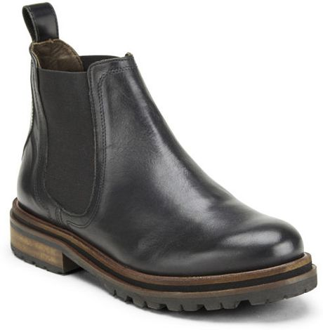h by hudson wistow leather elasticated chelsea boots in. Black Bedroom Furniture Sets. Home Design Ideas