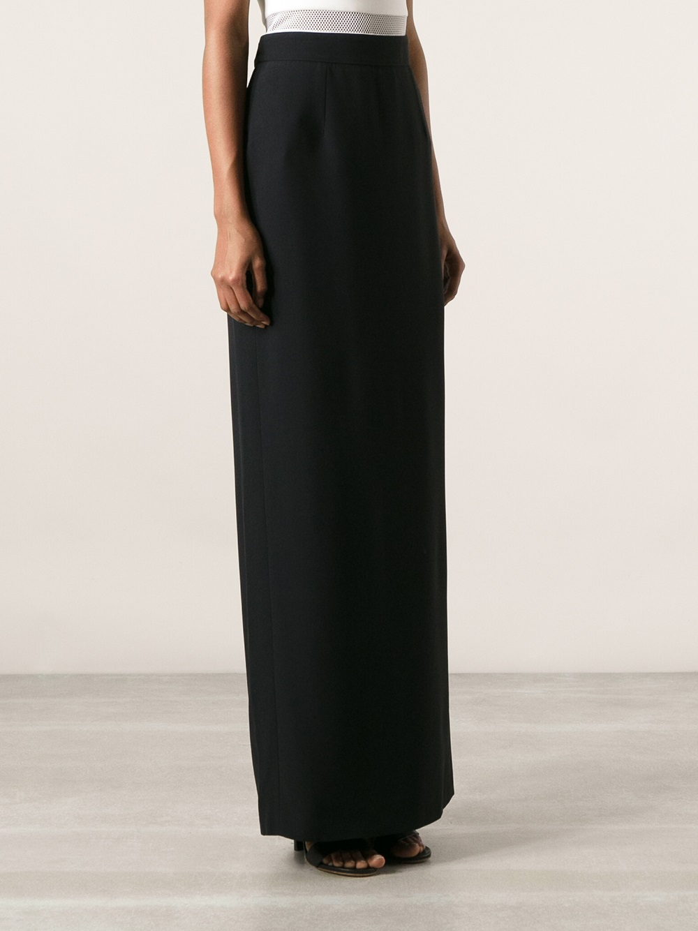 Alexander mcqueen Maxi Pencil Skirt in Black | Lyst