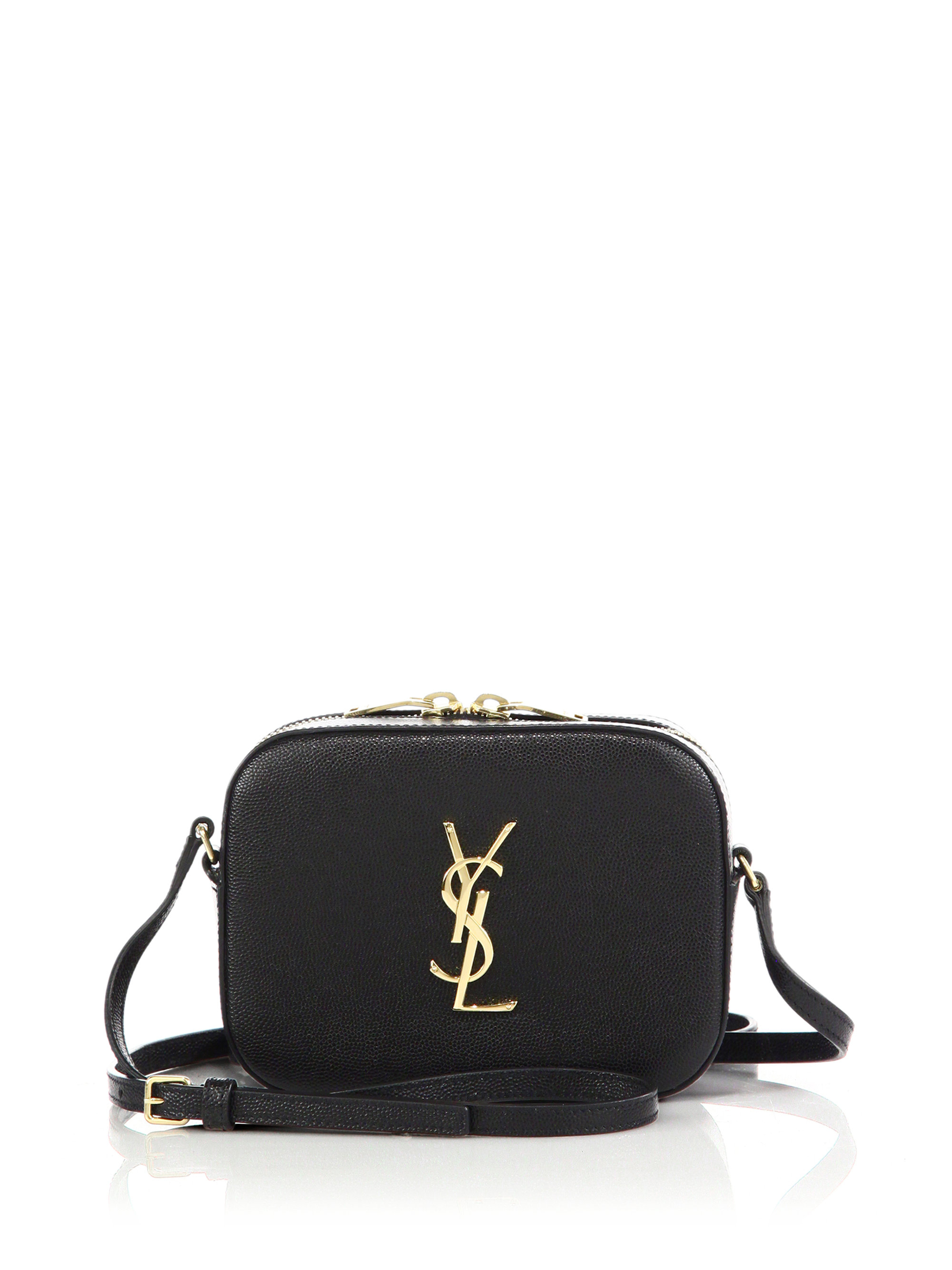 Lyst Saint Laurent Monogram Small Textured Leather