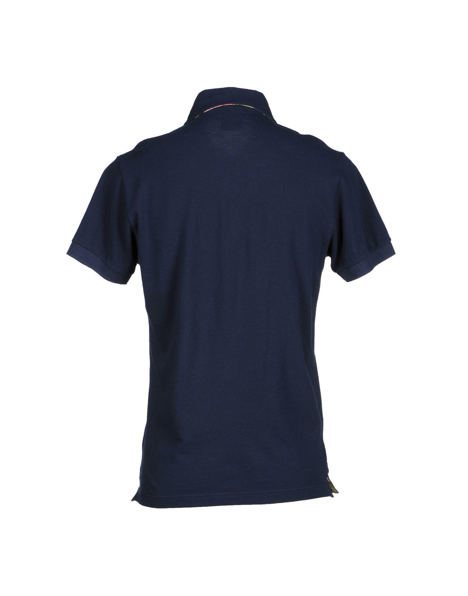 Franklin Marshall Polo Shirt In Blue For Men Dark Blue