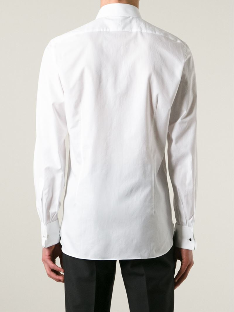 lyst tom ford pleated front shirt in white for men