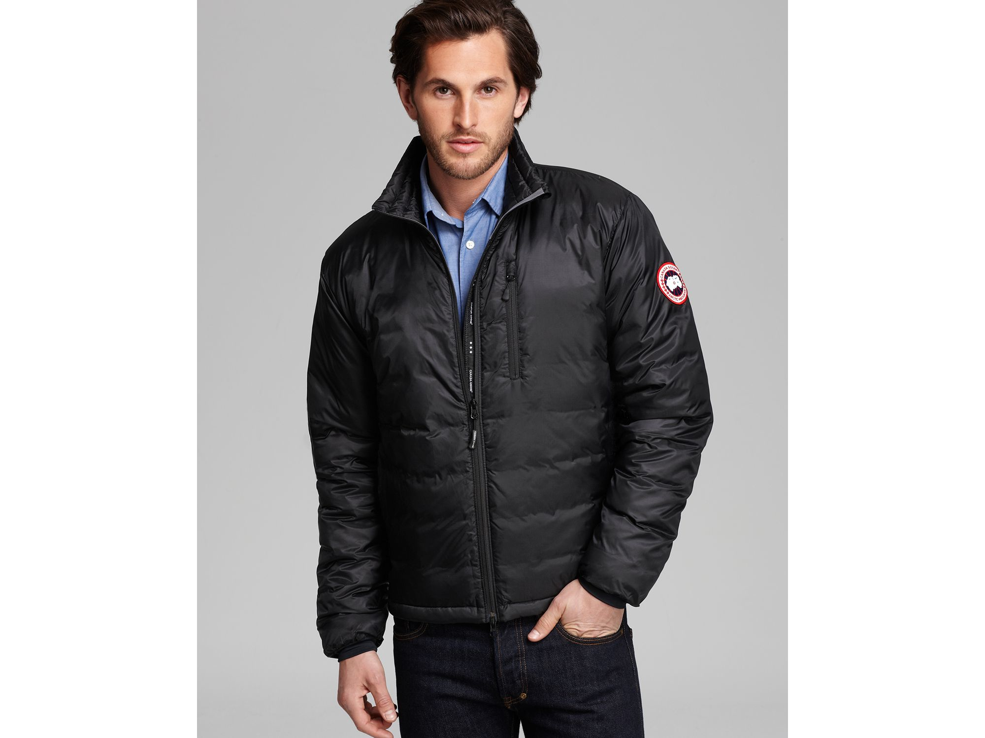 Lyst Canada Goose Lodge Down Jacket In Black For Men