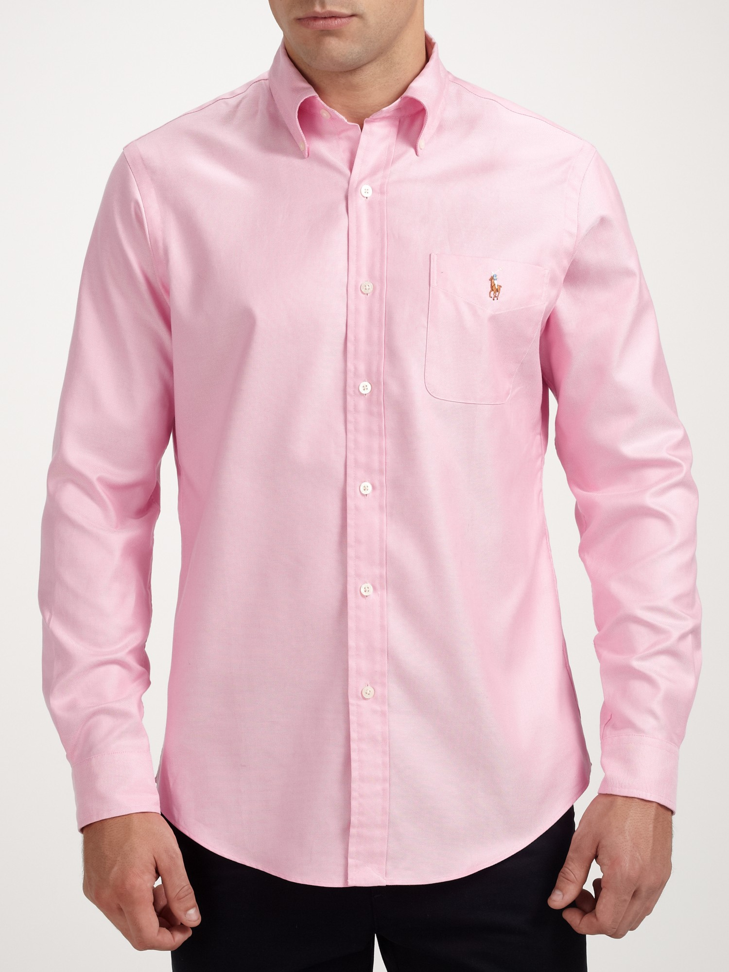 lyst polo ralph lauren oxford shirt in pink for men. Black Bedroom Furniture Sets. Home Design Ideas