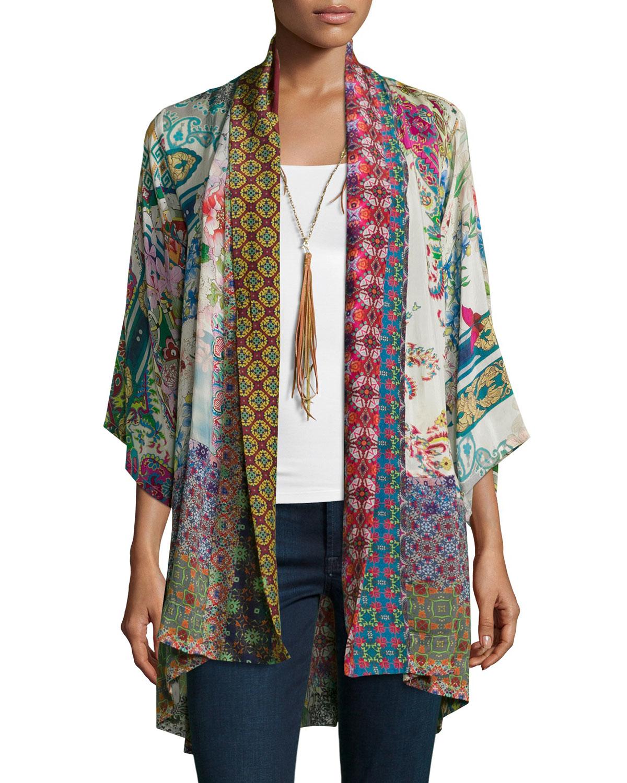 Lyst - Johnny Was Dream Printed-Crepe Kimono Jacket