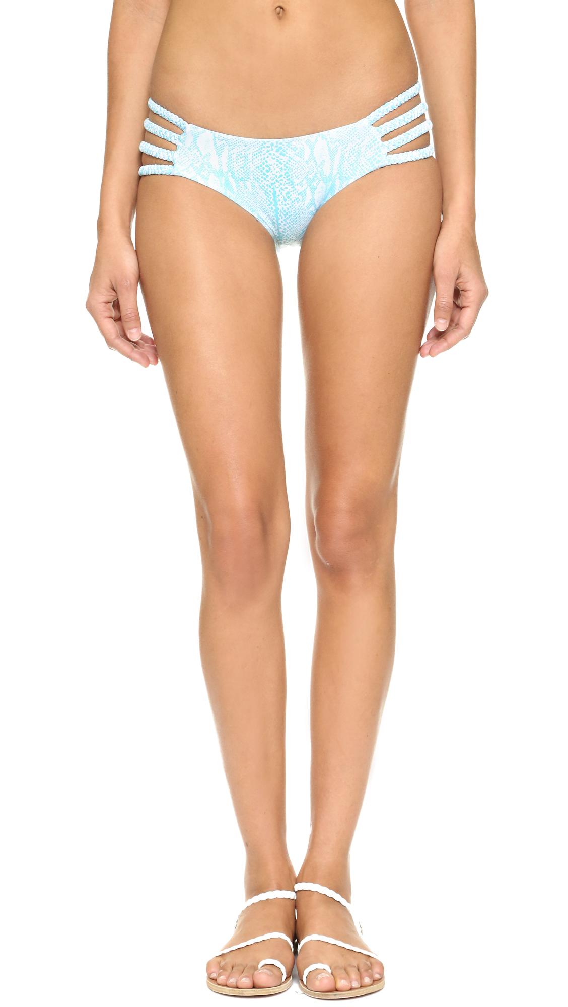 Tori praver swimwear Shyla Bikini Bottoms in Blue