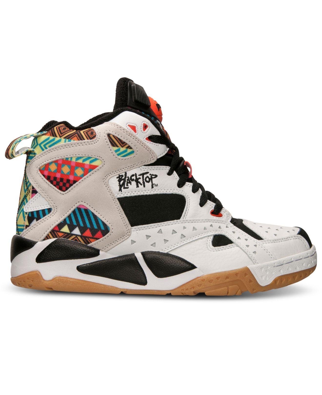 95f8195127af Lyst - Reebok Mens Blacktop Battleground Basketball Sneakers From ...
