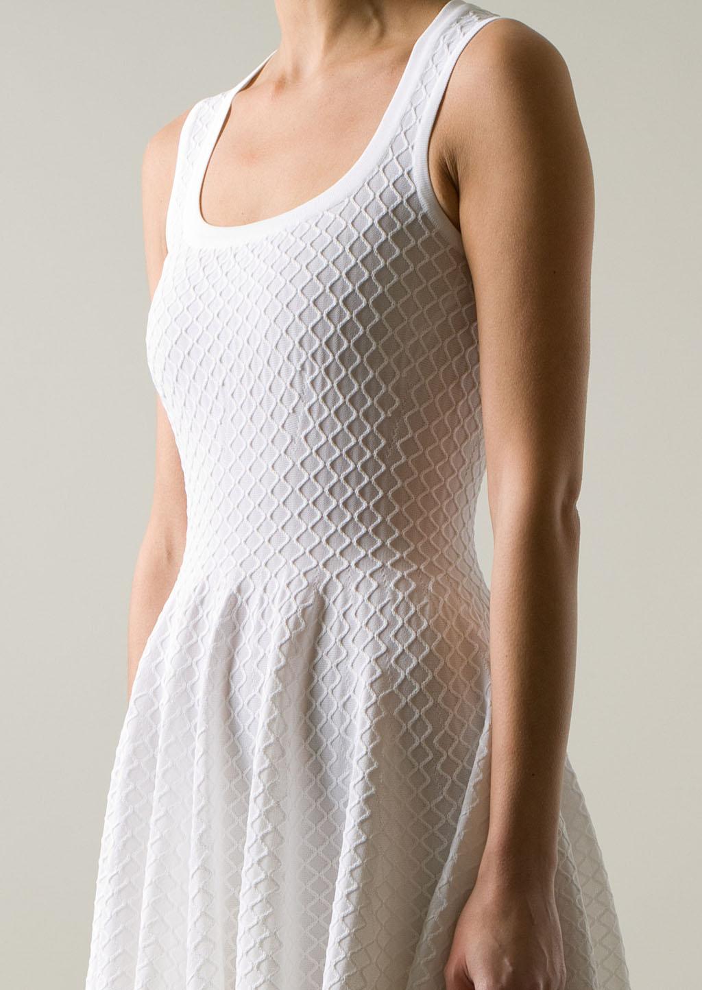 Alaïa Azzédine Alaïa White Stretch Knitwear Dress in White ...