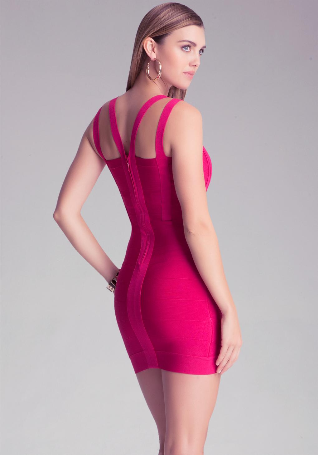 Lyst Bebe Lauren Bandage Dress In Pink