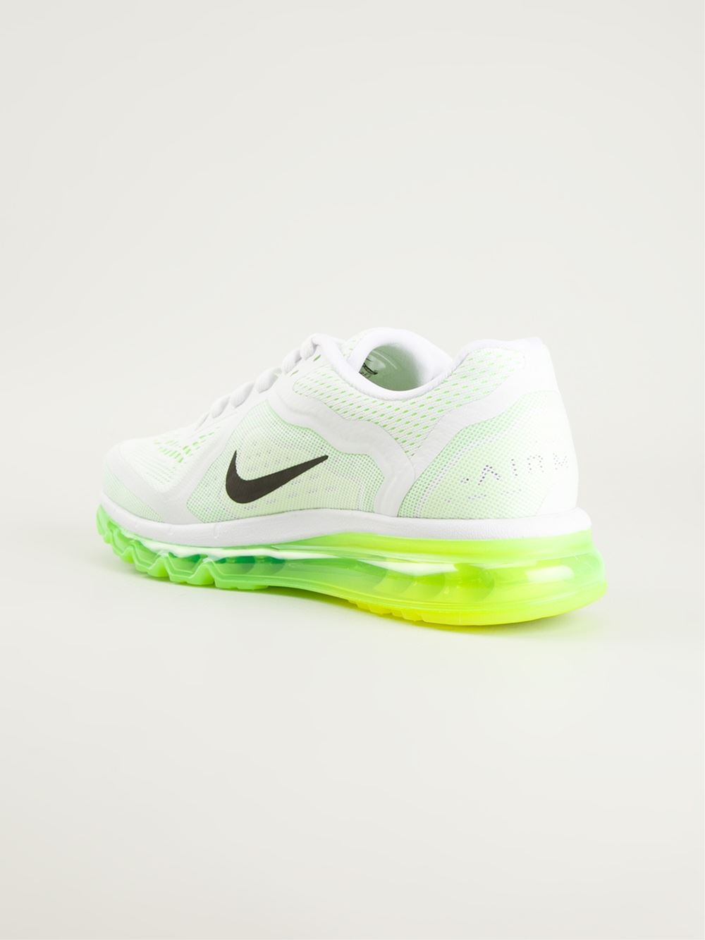 b5a65a9593 Nike 'Air Max 2014' Neon Sole Sneakers in White for Men - Lyst