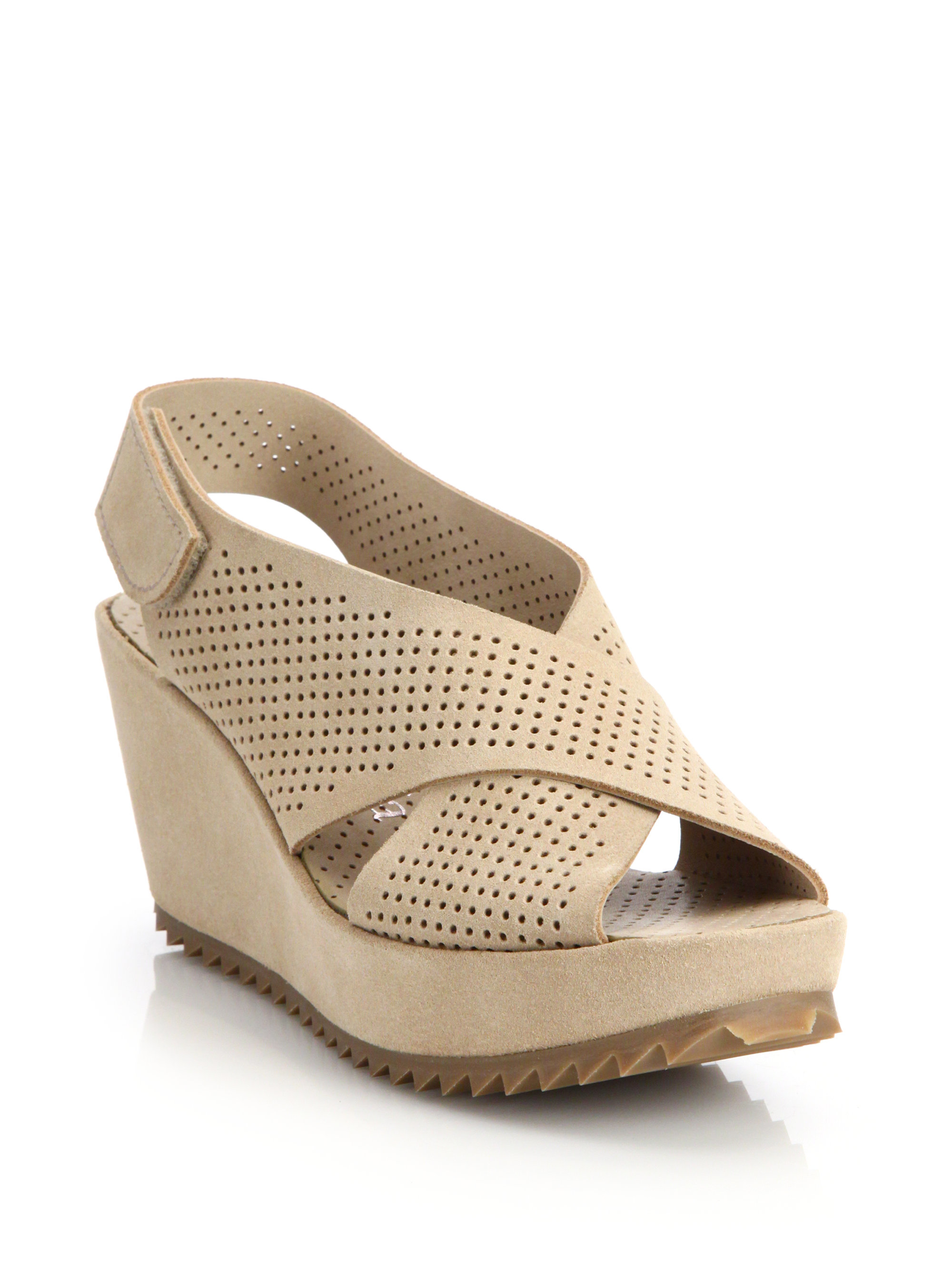 Pedro Garcia Suede Perforated Sandals outlet store cheap online largest supplier great deals for sale discounts cheap price VukMJT