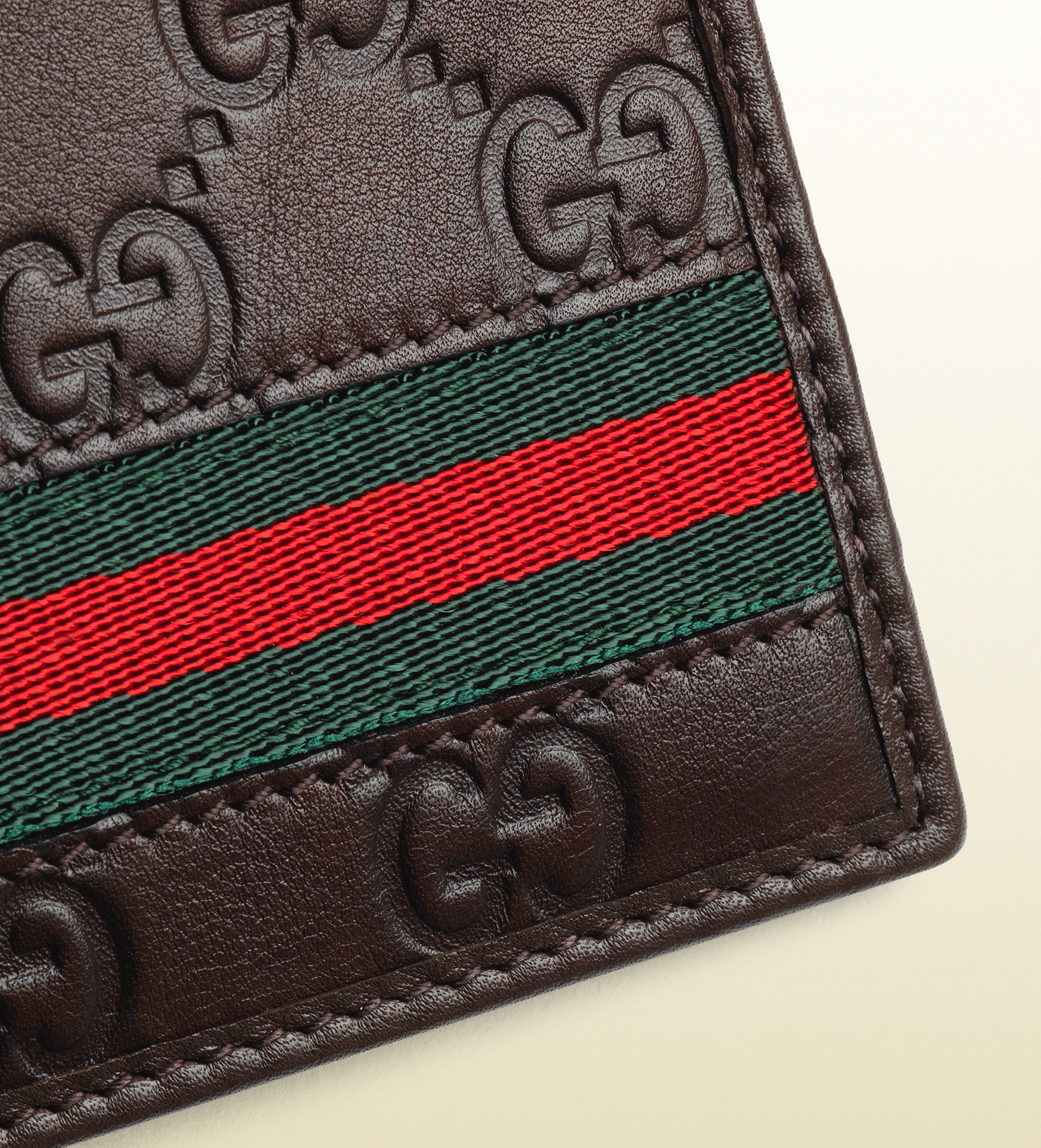 5e8895899a9 Lyst - Gucci Ssima Leather Web Bi-fold Wallet for Men