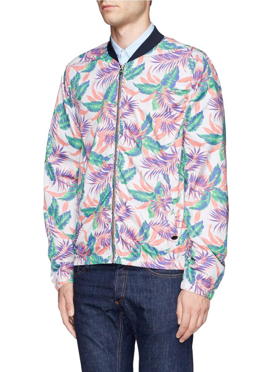 Lyst Scotch Amp Soda Hawaiian Floral Print Bomber Jacket