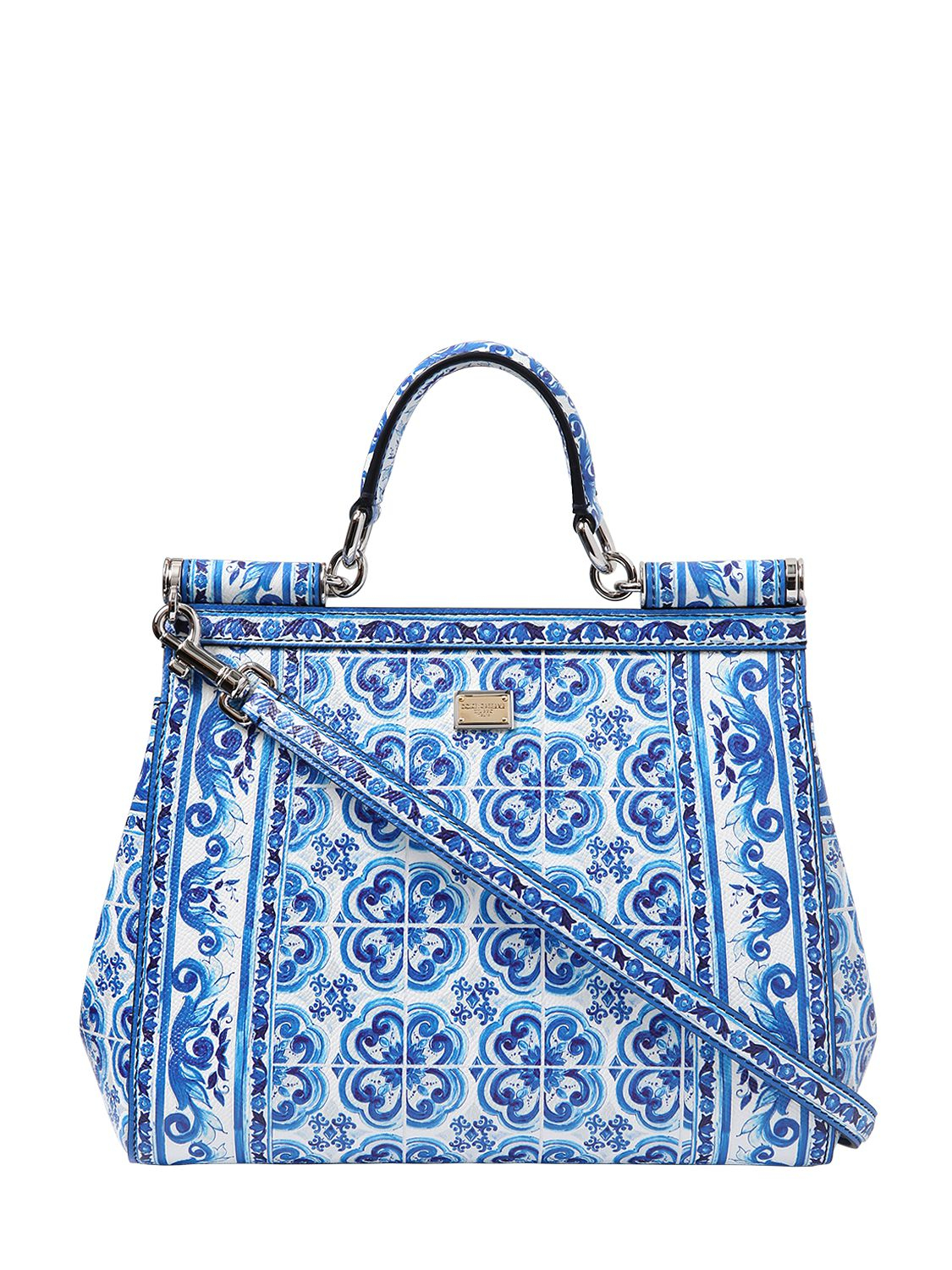 Lyst - Dolce   Gabbana Medium Sicily Dauphine Leather Bag in Blue 0fe9e7dc36