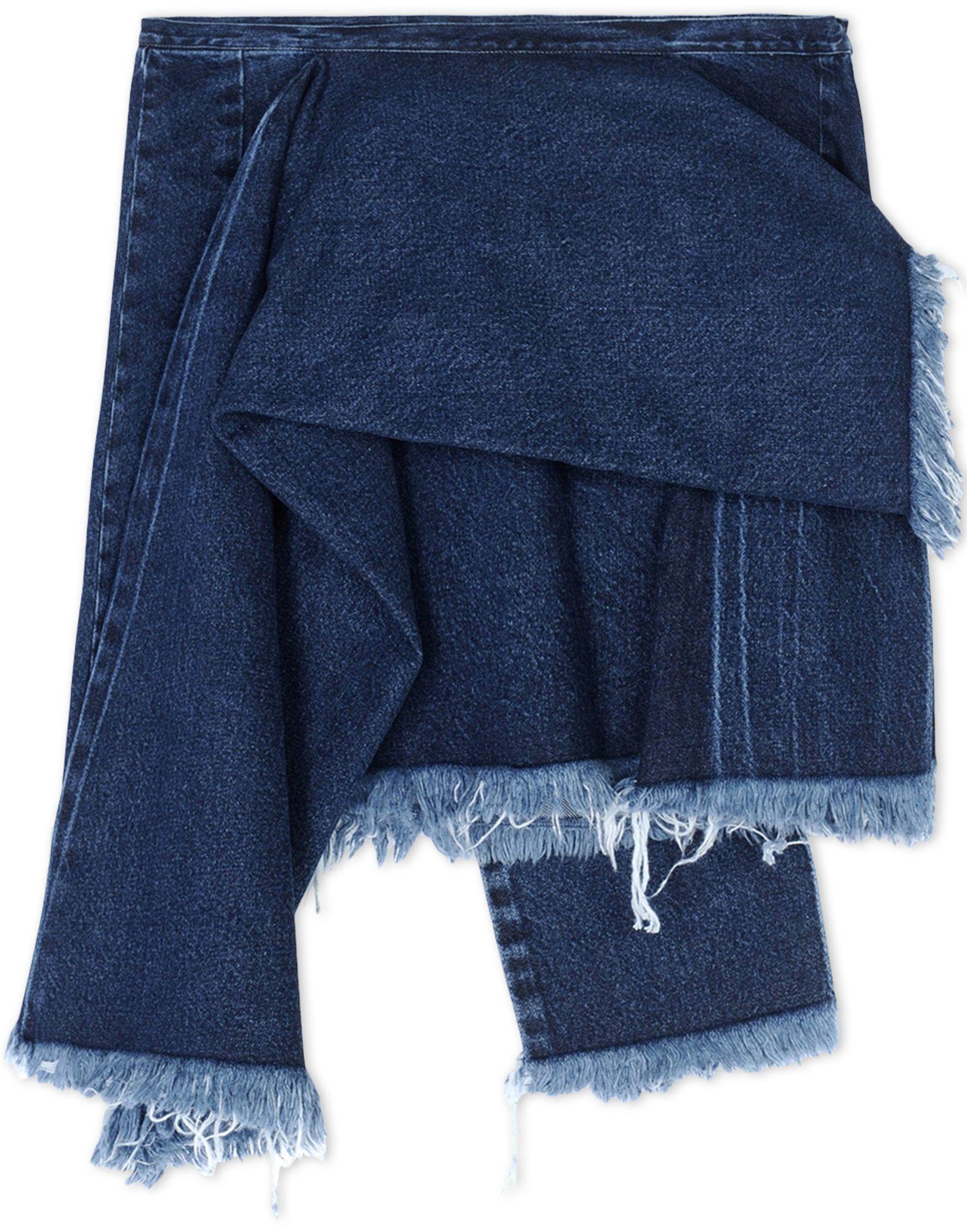 marques almeida denim skirt in blue lyst