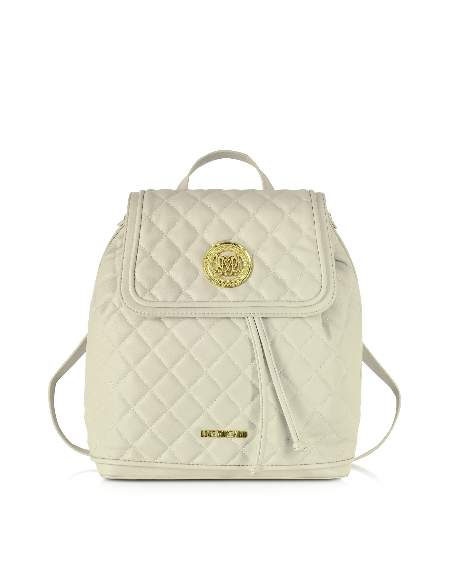 Lyst - Love Moschino Large Quilted Eco Leather Backpack in White e89d24d683b09