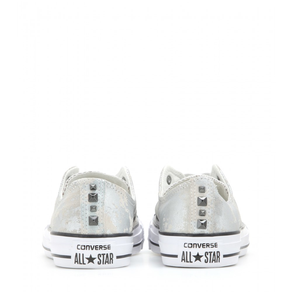 Converse Chuck Taylor All Star Metallic Suede Sneakers Lyst
