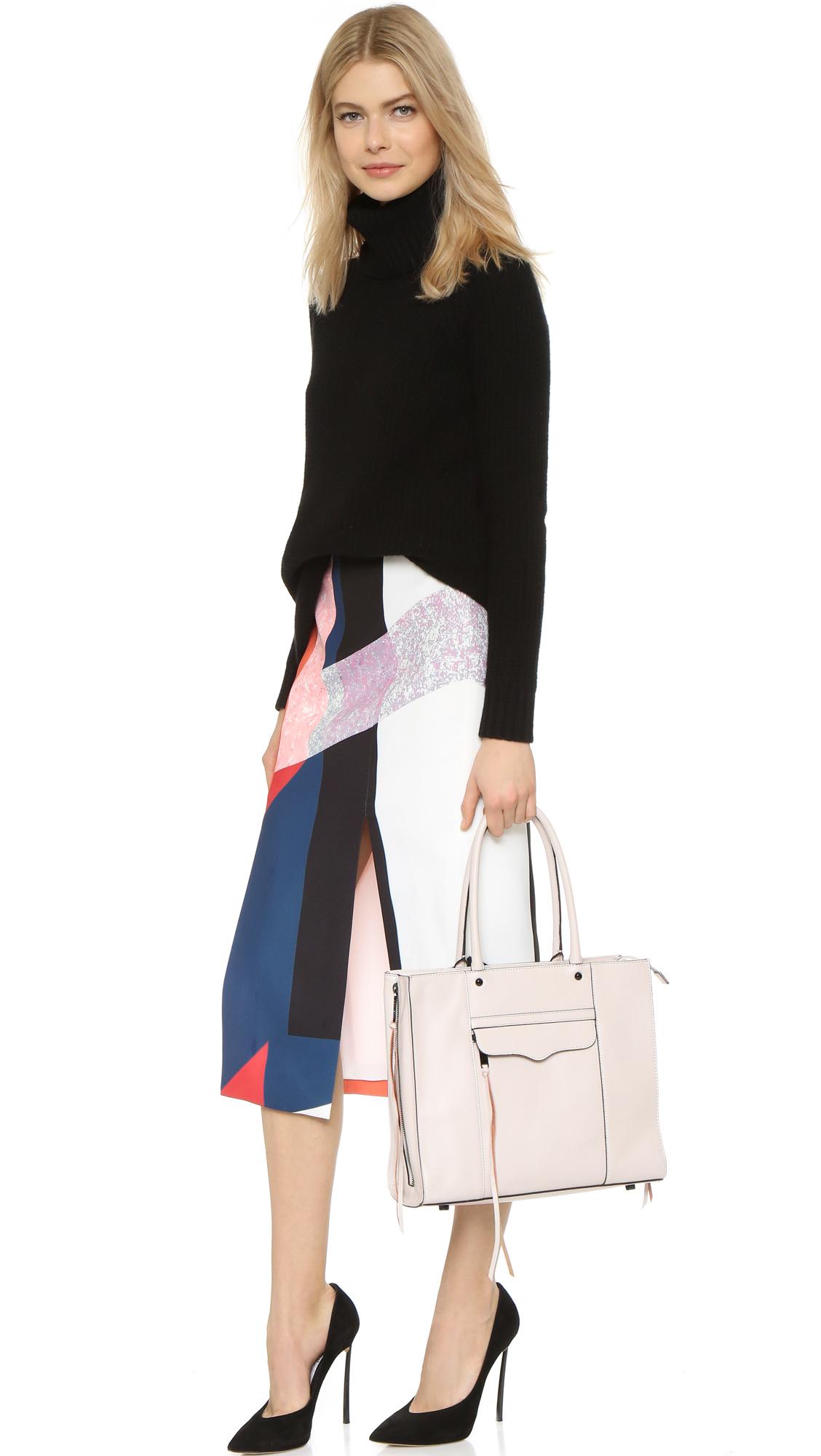 Rebecca Minkoff Size Zip Medium Mab Tote Putty In Gray