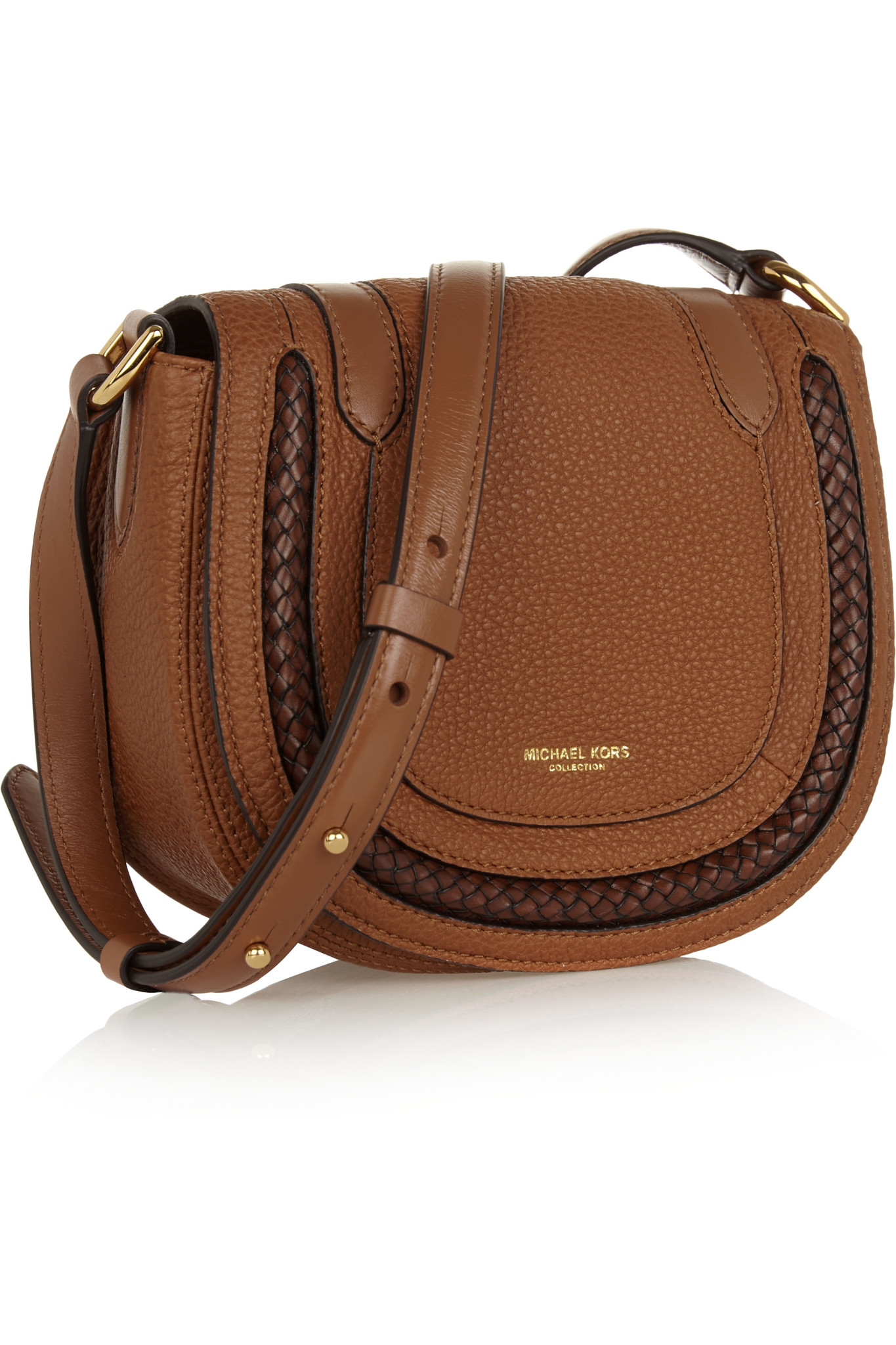 b63ddb7cfd46 Lyst - Michael Kors Skorpios Small Textured-leather Shoulder Bag