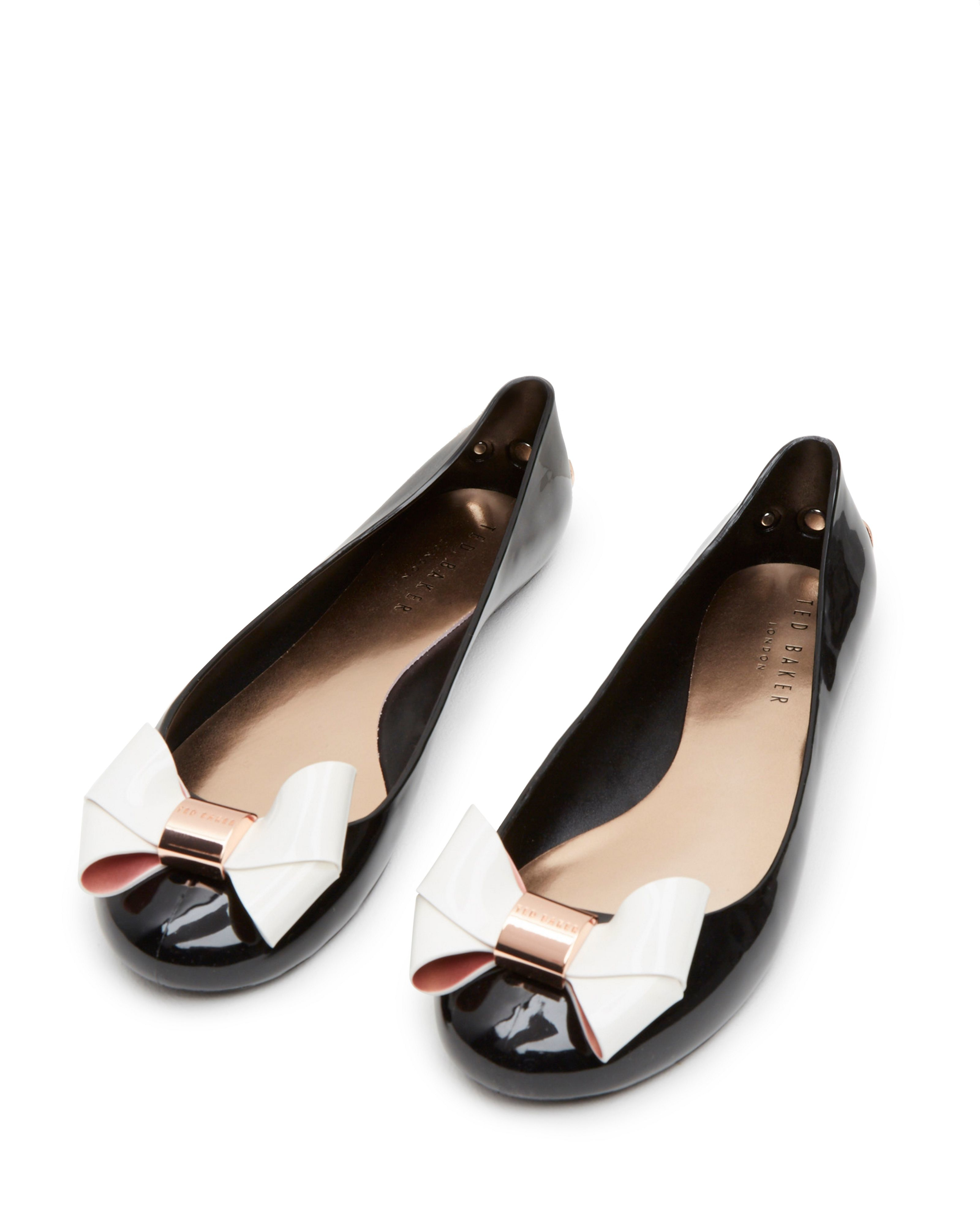 Jack Madden Ford >> Ted Baker Faiyte Large Bow Jelly Pumps in White - Lyst