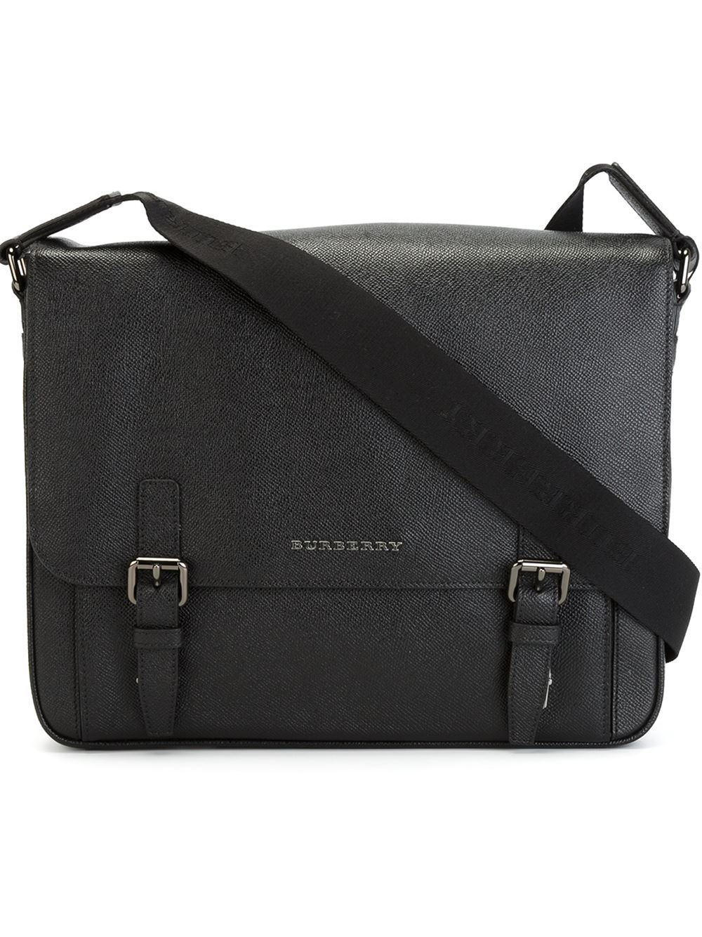 Burberry Fold Over Top Messenger Bag in Black for Men | Lyst