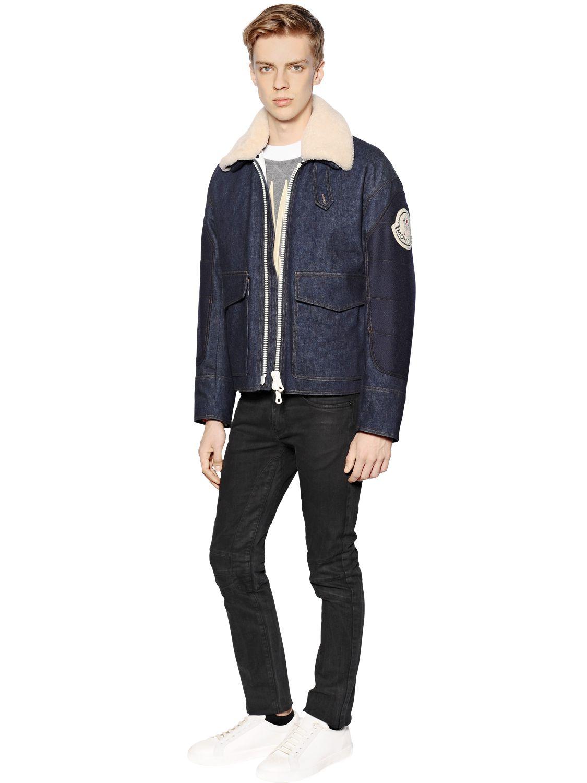 moncler jean jacket