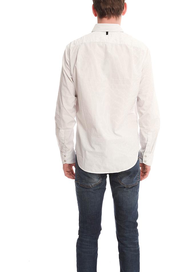 Rag bone 3 4 placket shirt in white for men ivory lyst for Rag and bone mens shirts sale